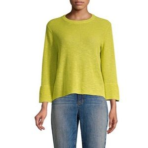 Eileen Fisher vebna Crewneck top pullover linen